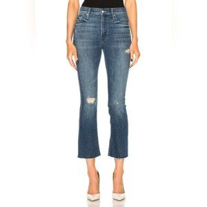 MOTHER The Insider Crop Fray Jeans Gypsy High Rise